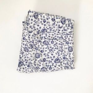** J Crew ** floral toothpick cropped ankle